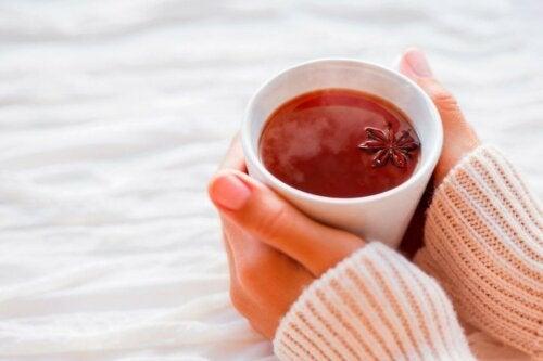 Te av anis for å forbedre tarmproblemer.