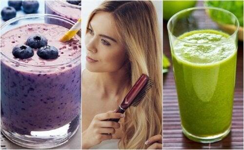 5 smoothies som vil styrke og nære håret ditt
