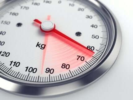 En vekt som viser 60 kg