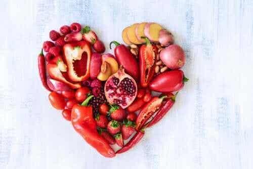 Næringsverdien til røde frukter og grønnsaker