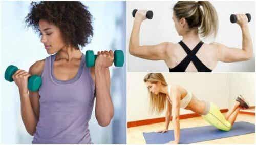 Fem øvelser for å tone armene dine uten å gå på treningsstudioet