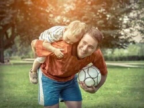 Barn og sport.