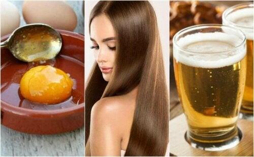 En behandling med øl og egg for silkemykt og sunt hår