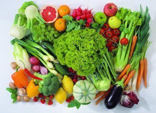 Frukt og grønt.