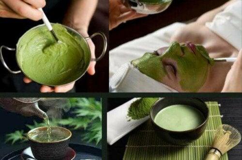Ansiktsmasker av grønn te mot hudproblemene dine