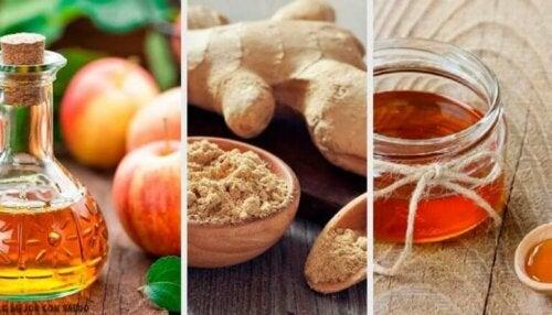 Fordøyelsestonic med eplecidereddik, ingefær og honning