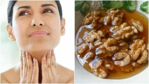 Honning og nøtter for å fremme helsen til skjoldbruskkjertelen
