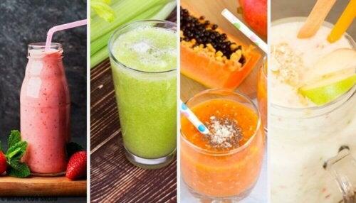 Fire deilige og sunne detox-smoothies