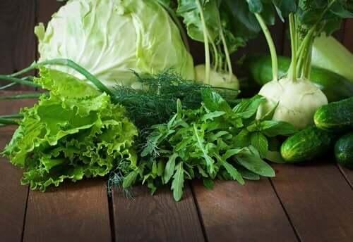Grønne grønnsaker for en sunnere tarmflora