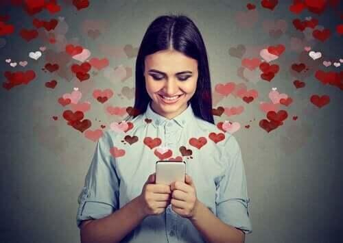 Kvinne som er forelsket.