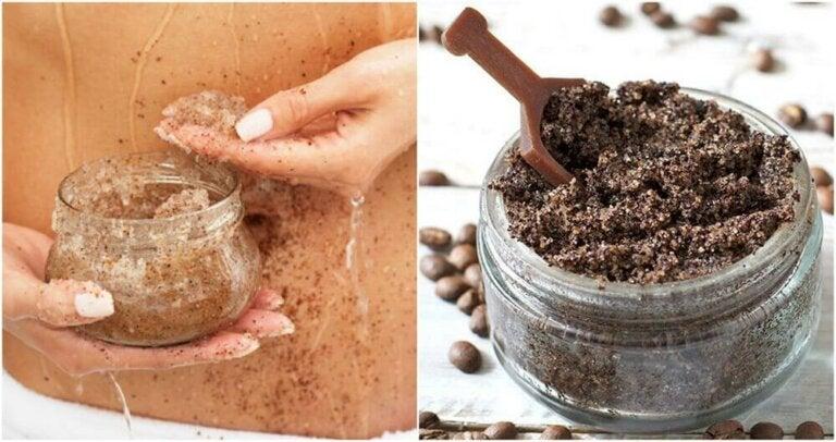 Peeling for strekkmerker med kaffe og kokosnøttolje