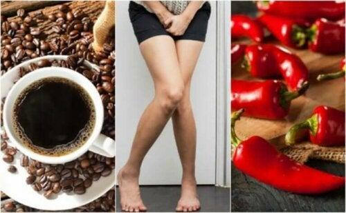 Fem matvarer du bør unngå hvis du har en overaktiv blære