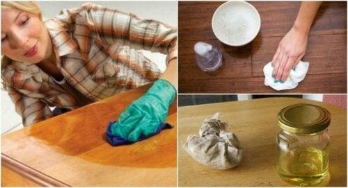 Hvordan lage fem møblerensere for naturlig tre