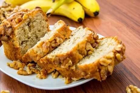 Sukkerfritt bananøtterbrød
