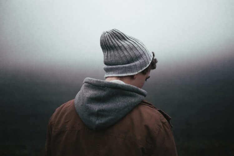 mann med depresjon
