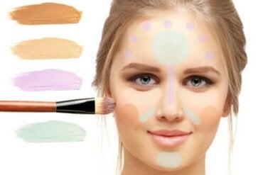 Fargekorrigerende sminke - formål og hvordan bruke det