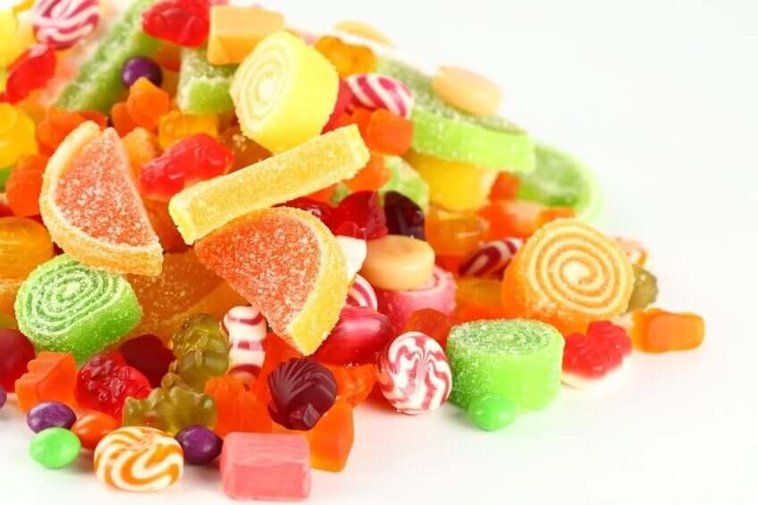 godteri er matvarer som forverrer cellulitter