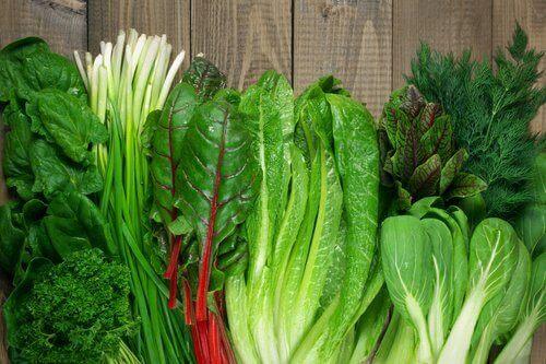 grønne grønnsaker er gode matvarer mot angst