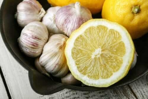 sitron og hvitløk