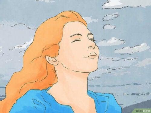 Kvinne i frisk luft.