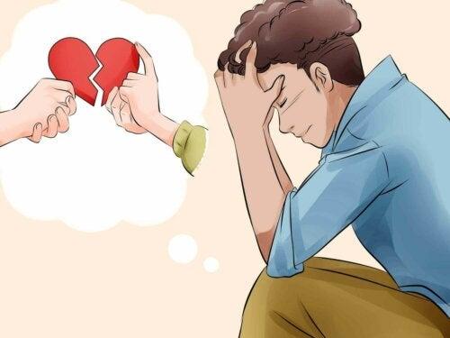Mann som frykter et romantisk forhold.