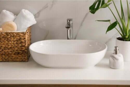 En moderne vask