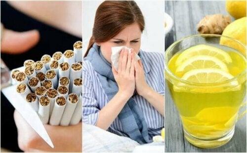 Ti trinn for å bekjempe en forkjølelse