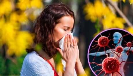 En kvinne med virus