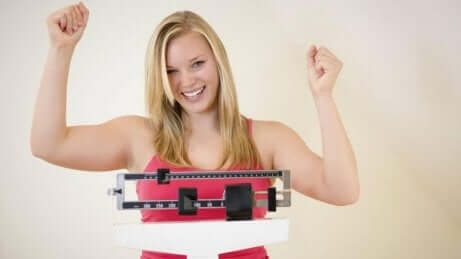 En kvinne som har lykkes med vekttap