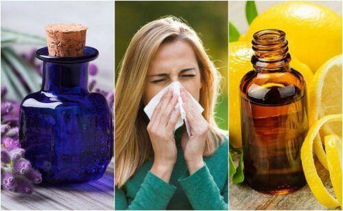 Seks gode eteriske oljer for allergier