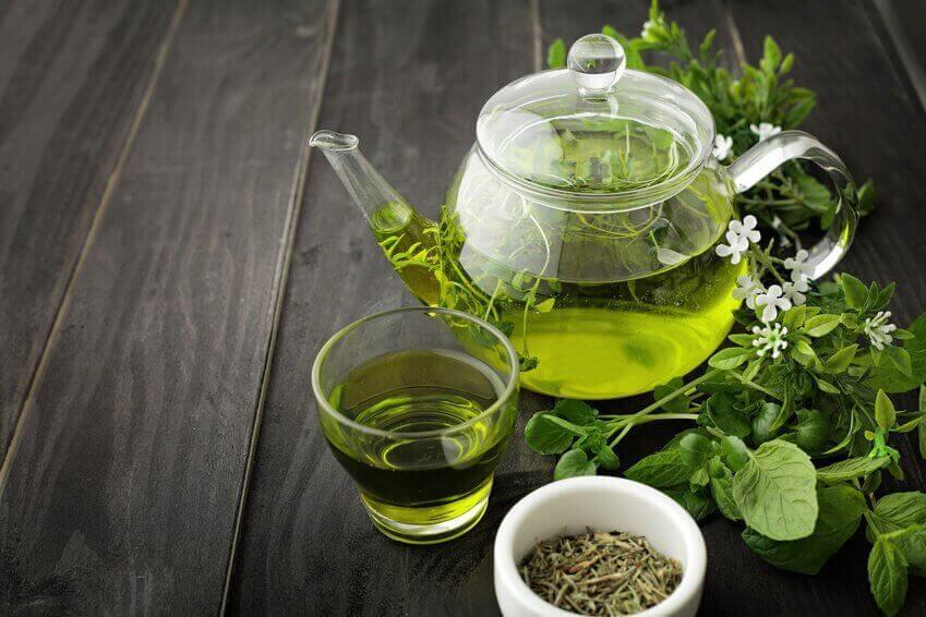 Grønn te for å ta vare på huden din