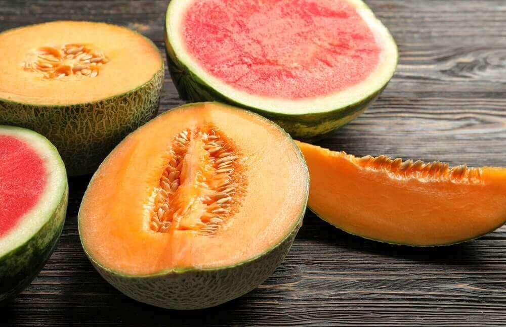 Skiver av melon