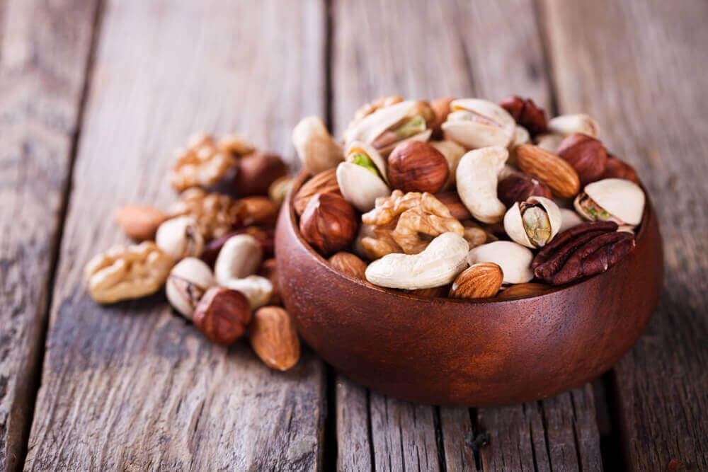 spis nøtter for å ta vare på huden din