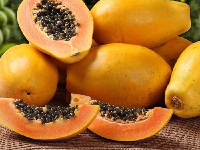 Skiver av papaya