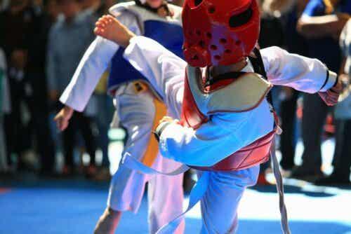 En Taekwondo-kamp.