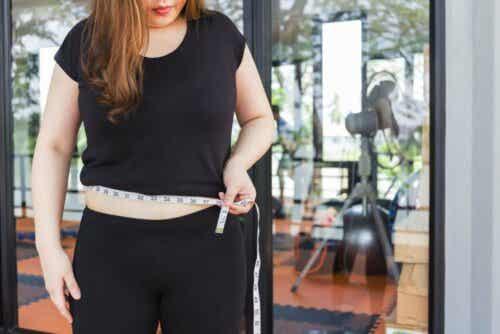 En overvektig kvinne