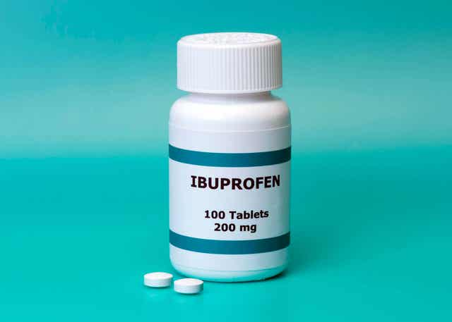 En ibuprofenflaske