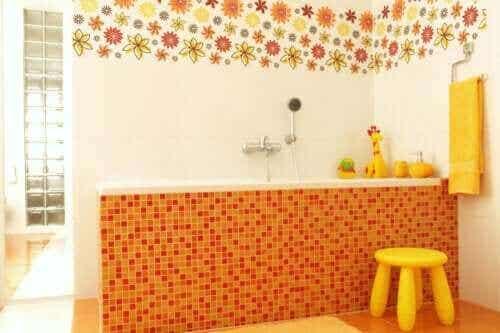 Syv ideer for barnevennlig baderomsinnredning