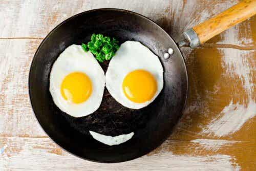Et lykkelig eggeansikt