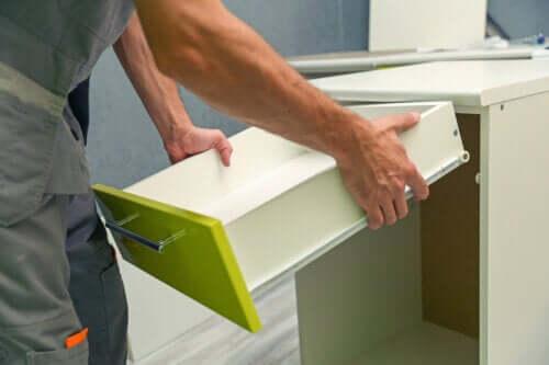 Fem typer materialer til kjøkkenmøbler